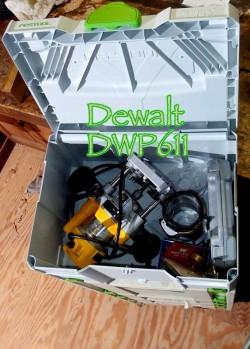 SYSTAINERに収納されたDewaltルーター