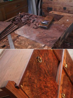 CLARO単板の削りと完成形