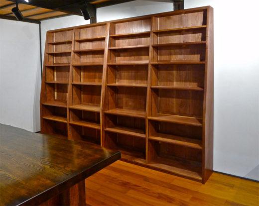 ブラックウォールナットの書棚