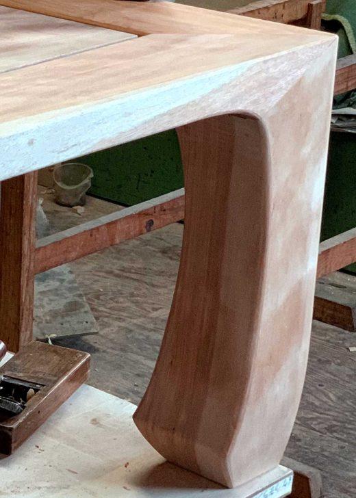 車知栓による三方留の座卓